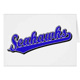 Seahawks en azul tarjetas