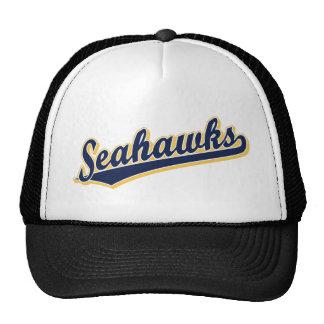 Seahawks en azul y oro gorros bordados