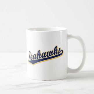 Seahawks en azul y oro taza clásica