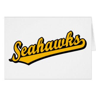 Seahawks en naranja tarjeta