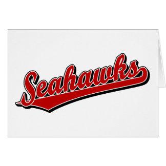 Seahawks en rojo tarjeton