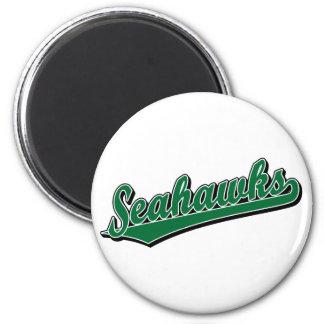 Seahawks en verde imán redondo 5 cm