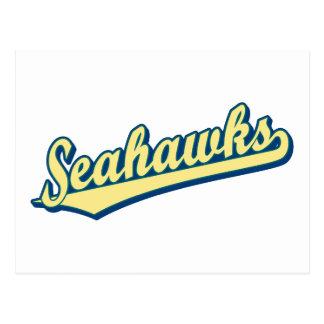 Seahawks en verde y azul del oro tarjetas postales
