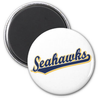 Seahawks in Blue and Gold 2 Inch Round Magnet