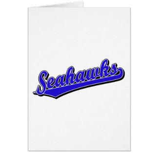 Seahawks in Blue Card