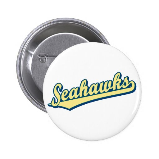 Seahawks in Gold Green and Blue 2 Inch Round Button