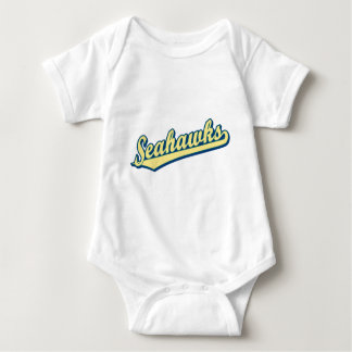 Seahawks in Gold Green and Blue Baby Bodysuit