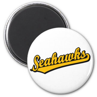 Seahawks in Orange 2 Inch Round Magnet