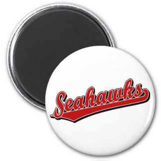 Seahawks in Red 2 Inch Round Magnet