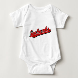 Seahawks in Red Baby Bodysuit