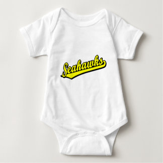 Seahawks in Yellow Baby Bodysuit