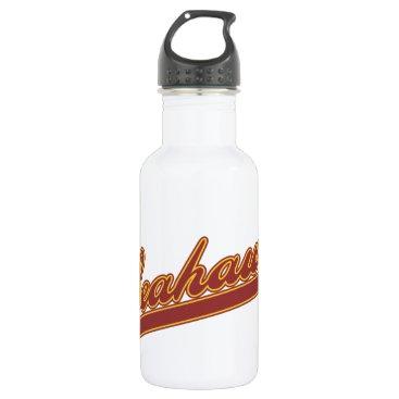 Beach Themed Seahawks Script Water Bottle