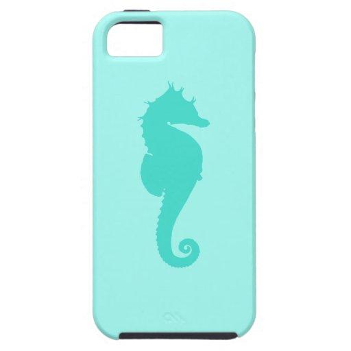 Seahorse 2 de la turquesa funda para iPhone SE/5/5s