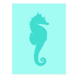 Seahorse 2 de la turquesa tarjeta postal