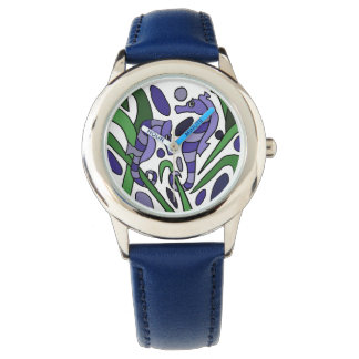 Seahorse Abstract Art Watch