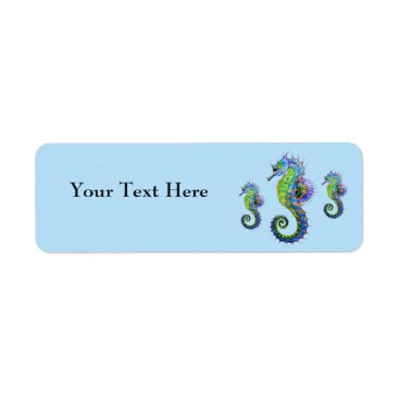 Beach Themed Seahorse Address Labels