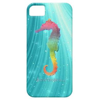 Seahorse - ahorre el mar - caballo de mar funda para iPhone 5 barely there
