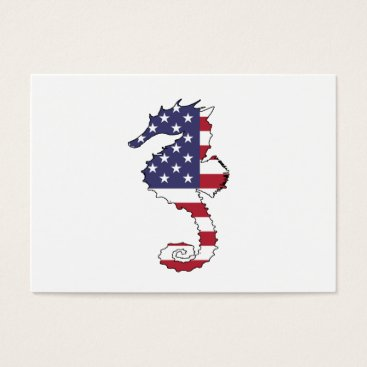 "USA Themed Seahorse ""American Flag"" Business Card"
