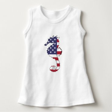 "USA Themed Seahorse ""American Flag"" Dress"