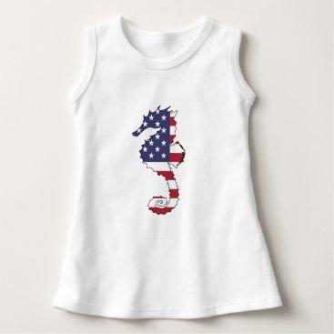 "USA Themed Seahorse ""American Flag"" Dress"