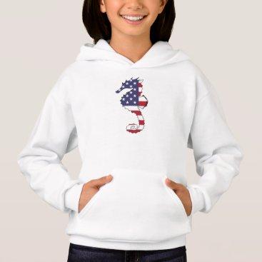"USA Themed Seahorse ""American Flag"" Hoodie"
