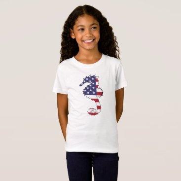 "USA Themed Seahorse ""American Flag"" T-Shirt"