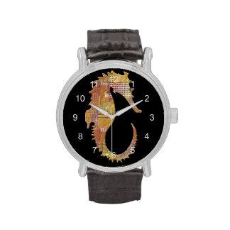 Seahorse anaranjado relojes