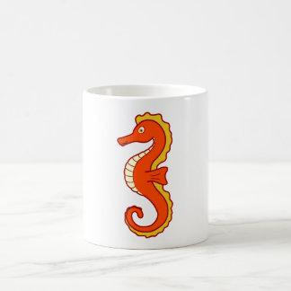 Seahorse anaranjado taza