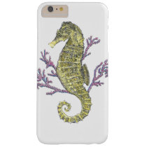 Seahorse and Coral Barely There iPhone 6 Plus Case