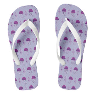 Seahorse and Jellyfish Flip Flops