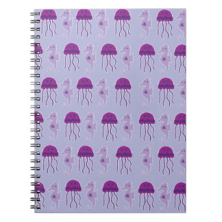 Seahorse and Jellyfish Notebook