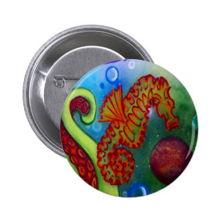 seahorse and octopus tentacle button