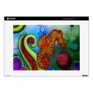 seahorse and octopus tentacle skin for laptop