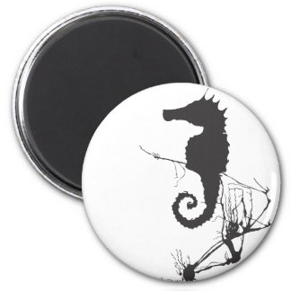 Seahorse and Seaweed #1 Magnet