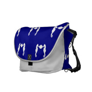 Seahorse and Shell Courier Bag