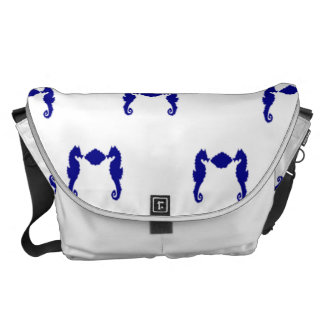 Seahorse and Shell Messenger Bag
