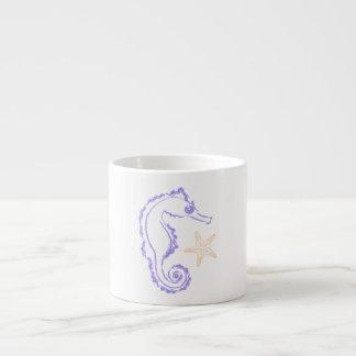 Seahorse and Starfish Espresso Cup