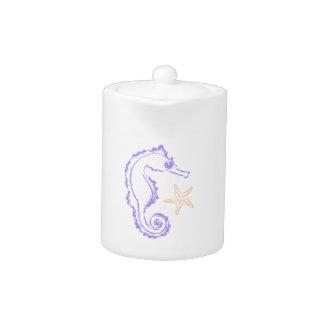 Seahorse and Starfish Teapot