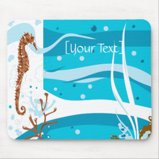 Seahorse Aquatic Aqua Mousepad
