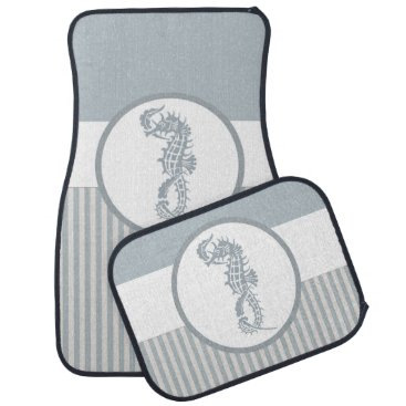Beach Themed Seahorse Art Casual Beach Car Floor Mat