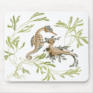Seahorse Art Mouse Pad