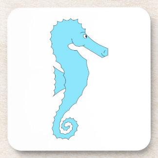 Seahorse azul claro posavaso