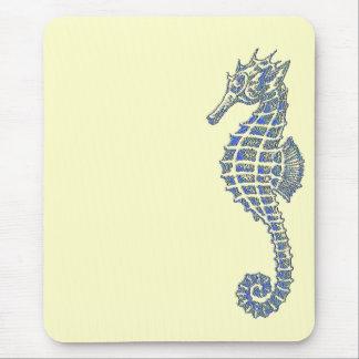 Seahorse azul tapetes de raton