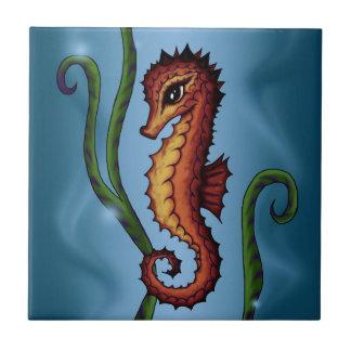 Seahorse Azulejo Cuadrado Pequeño