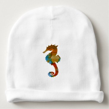 Beach Themed Seahorse Baby Beanie