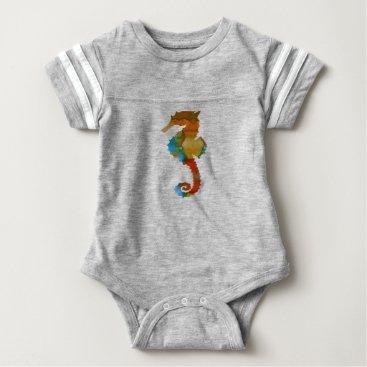 Beach Themed Seahorse Baby Bodysuit