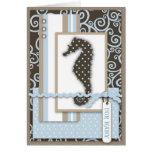 Seahorse Baby Boy Card