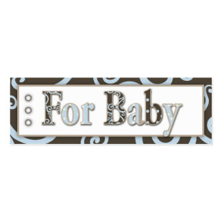 Seahorse Baby Boy Gift Tag Mini Business Card