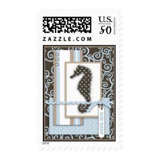 Seahorse Baby Boy Stamp