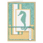 Seahorse Baby Card